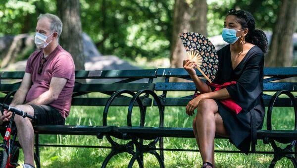 ABD - Central Park  - maske - koronavirüs   - Sputnik Türkiye