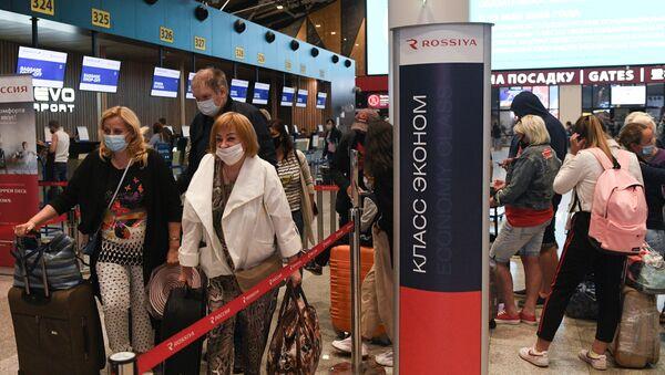 Rusya-koronavirüs-havalimanı - Sputnik Türkiye