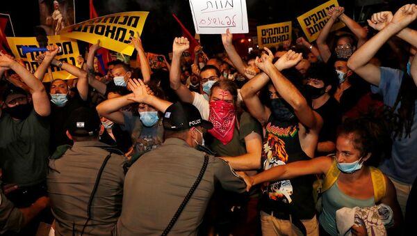 Netanyahu, İsrail, protesto - Sputnik Türkiye