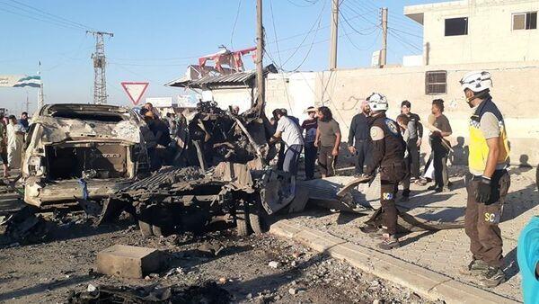 Suriye'nin kuzeyindeki Azezilçesinde, bomba yüklü araçla saldırı düzenlendi. - Sputnik Türkiye