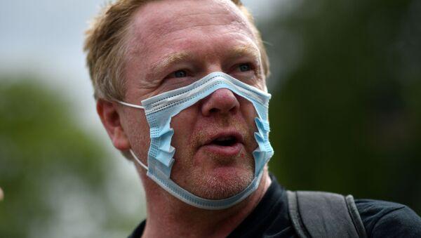 İngiltere-maske karşıtı protesto - Sputnik Türkiye