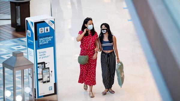 Fransa-maske-AVM - Sputnik Türkiye