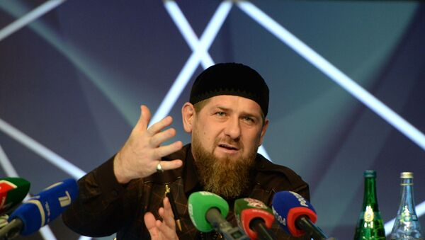 Пресс-конференция главы Чеченской Республики Р. Кадырова - Sputnik Türkiye