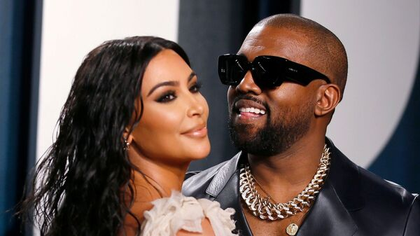 Kanye West-Kim Kardashian - Sputnik Türkiye