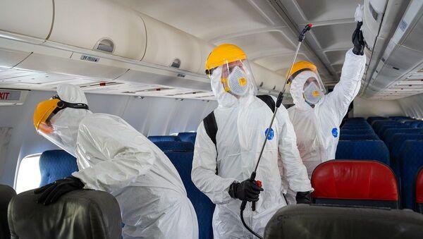 Rusya-koronavirüs-havalimanı-uçak - Sputnik Türkiye