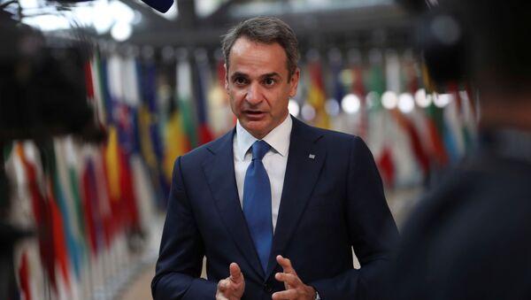 AB Zirvesi-Yunanistan Başbakanı Kiriakos Miçotakis - Sputnik Türkiye