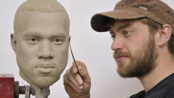 Madame Tussauds Müzesi'nde Kanye West heykeli hazırlığı - Sputnik Türkiye