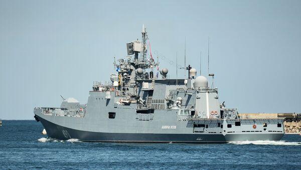 Sivastopol'da Donanma Günü onuruna yapılan geçit töreni provası - Sputnik Türkiye