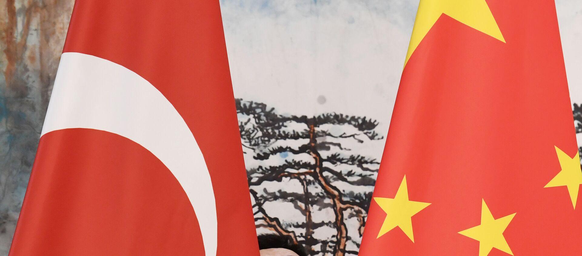 Çin ve Türkiye bayrakları - Sputnik Türkiye, 1920, 26.03.2021