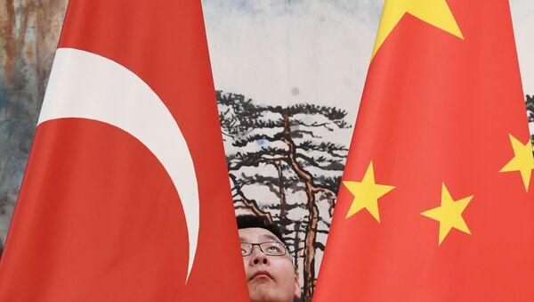 Çin ve Türkiye bayrakları - Sputnik Türkiye