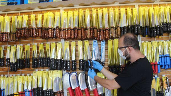 Koronavirüse karşı üretilen özel bıçaklara yoğun ilgi - Sputnik Türkiye