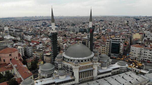 Bu sene açılacak olan Taksim Camisi'nin şerefesi havadan görüntülendi - Sputnik Türkiye