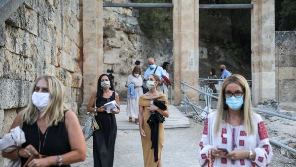 Yunanistan - koronavirüs - maske  - Sputnik Türkiye