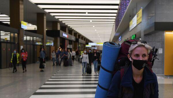 Şeremetyevo Uluslararası Havalimanı, koronavirüs, Moskova, Rusya  - Sputnik Türkiye