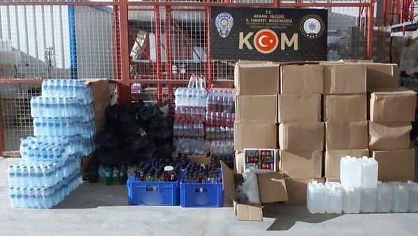 Adana'da 600 bin liralık kaçak içki ele geçirildi - Sputnik Türkiye