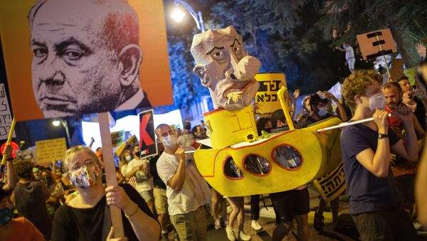 İsrail-Benyamin Netanyahu karşıtı protestolar - Sputnik Türkiye
