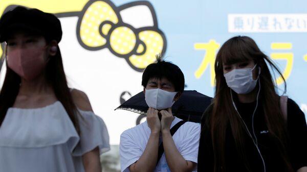 Japonya-koronavirüs-maske - Sputnik Türkiye