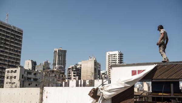 Lübnan - Beyrut Limanı patlaması sonrası - Sputnik Türkiye