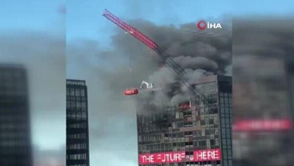 Brüksel'de Dünya Ticaret Örgütü binasında yangın - Sputnik Türkiye