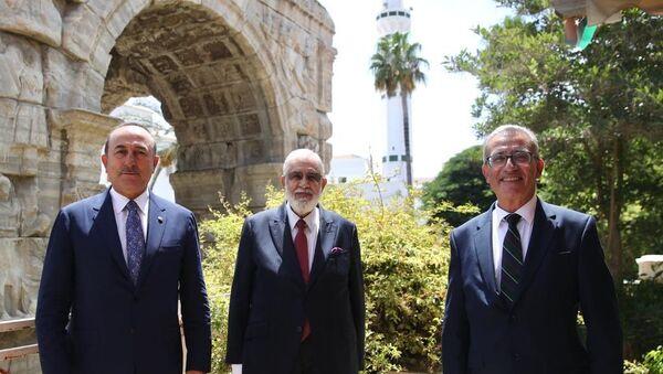 Libya, Malta, ve Türkiye dışişleri bakanları - Sputnik Türkiye
