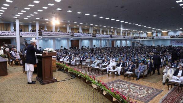 Afganistan'ın başkenti Kabil'de iki gün önce başlayan Büyük Halk Meclisi (Loya Cirga) - Sputnik Türkiye