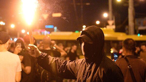 Minsk'teki gösteriler 2. günü - Sputnik Türkiye