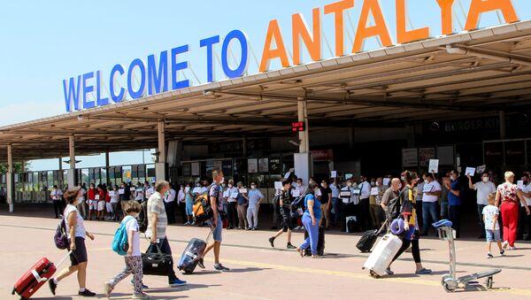 Rus turistler, Antalya - Sputnik Türkiye