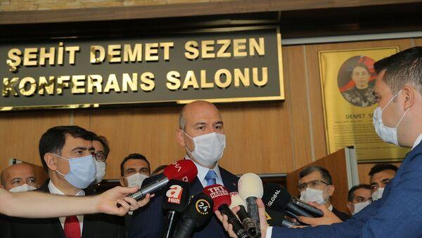 İçişleri Bakanı Süleyman Soylu, Afet Kriminal İnceleme Temel Eğitim Kursu Açılış Programı'na katıldı.  - Sputnik Türkiye