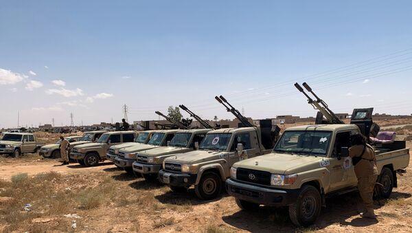 Libya'da, Birleşmiş Milletler tarafından tanınan Trablus merkezli Ulusal Mutabakat Hükümeti'ne bağlı güçler - Sputnik Türkiye