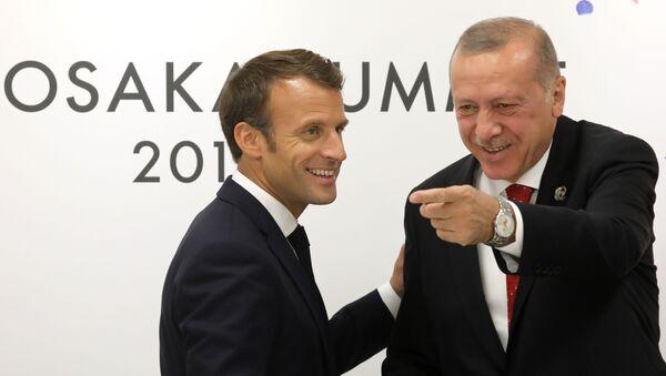 Emmanuel Macron, Recep Tayyip Erdoğan - Sputnik Türkiye