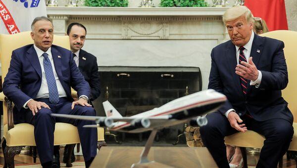 ABD Başkanı Donald Trump ve Irak BaşbakanıMustafa el-Kazımi - Sputnik Türkiye