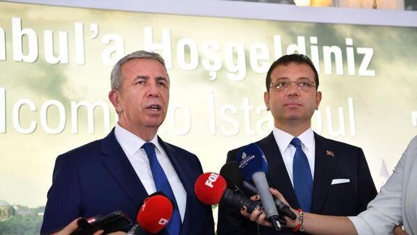 İstanbul Büyükşehir Belediye Başkanı Ekrem İmamoğlu, Ankara Büyükşehir Belediye Başkanı Mansur Yavaş  - Sputnik Türkiye