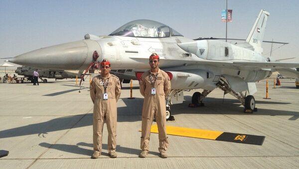 Dubai Airshow'da sergilenen BAE Hava Kuvvetleri için özel tasarlanmış F-16 Block 60 Çöl Şahini - Sputnik Türkiye