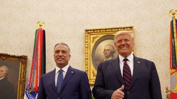 Trump, Irak Başbakanı Mustafa el-Kazımi - Sputnik Türkiye