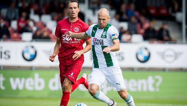 Hollanda Birinci Futbol Ligi (Eredivisie) ekiplerinden Groningen'de futbola dönüş yapan Arjen Robben, takımıyla ilk maçına çıktı. - Sputnik Türkiye