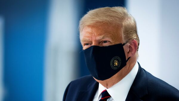 ABD Başkanı Donald Trump-maske - Sputnik Türkiye
