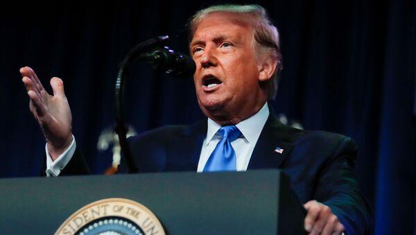 ABD Başkanı Donald Trump, Demokratlar'ın 3 Kasım'daki başkanlık seçimini kazanmalarının tek yolunun hile yapmaları olduğunu savundu.  - Sputnik Türkiye