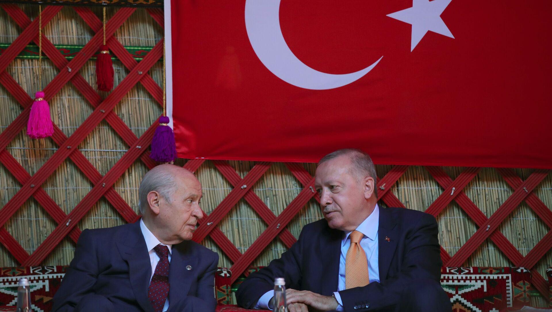 Devlet Bahçeli- Recep Tayyip Erdoğan - Sputnik Türkiye, 1920, 23.02.2021