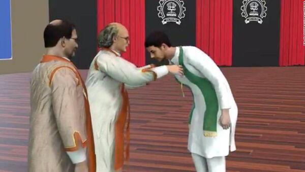 Kovid-19 nedeniyle etkinliklerin iptal edildiği dönemde, Hindistan Teknoloji Enstitüsü Bombay (IITB), öğrencilerinin mezuniyet törenin verdiği mutluluktan mahrum bırakmamak için avatarlı tören düzenledi. Her öğrenci kendine özel olarak kişiselleştirilmiş avatarıyla diplomasını aldı. - Sputnik Türkiye