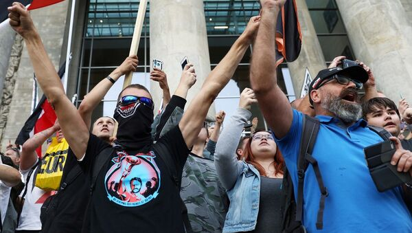 Berlin, protesto - Sputnik Türkiye