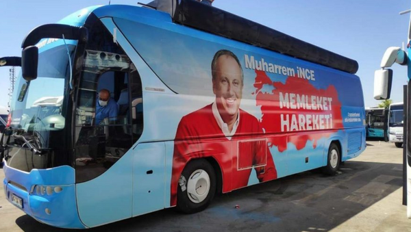 Muharrem İnce'nin otobüsü - Sputnik Türkiye