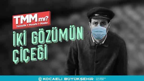 Kocaeli'de Yeşilçam sanatçılarının fotoğraflarıyla maske çağrısı - Sputnik Türkiye