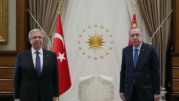 Mansur Yavaş-Recep Tayyip Erdoğan - Sputnik Türkiye
