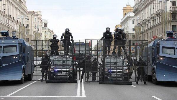 Belarus, protesto, polis,  - Sputnik Türkiye