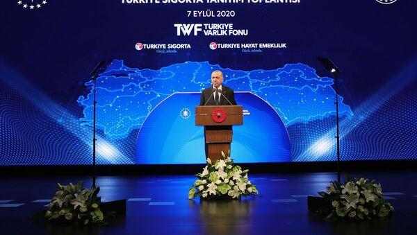 Erdoğan: Ülkemizin en büyük sigorta ve emeklilik şirketini tesis ediyoruz - Sputnik Türkiye