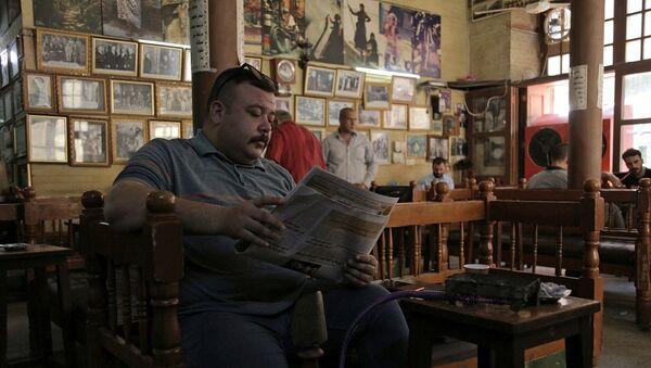 Irak- kafe-kahvehane - Sputnik Türkiye