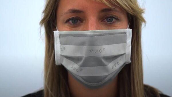 İspanyol şirketi, yüksek ateş durumunda rengi değişen maske geliştirdi - Sputnik Türkiye