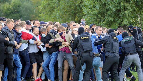 Belarus, Minsk, protesto-gözaltı - Sputnik Türkiye