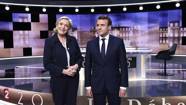 Emmanuel Macron ve Marine Le Pen - Sputnik Türkiye