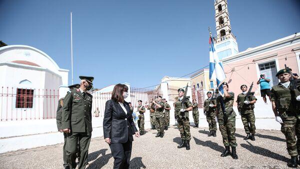 Yunanistan Cumhurbaşkanı Katerina Sakellaropulu-Meis  - Sputnik Türkiye